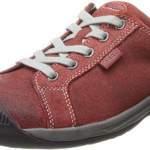 Keen Reisen Red Women's Walking Hiking Shoes EUC